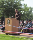 Dedication of fallen officer memorial